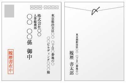 封筒の書き方の見本・サンプル